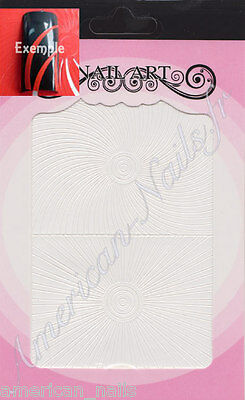 Autocollants Stickers bijoux d'ongles blanc LIGNES GRAPHIQUE Nail Art