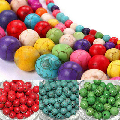 Wholesale 6/8mm Loose Spacer Beads DIY Jewelry Making Turquoise Gemstone Round
