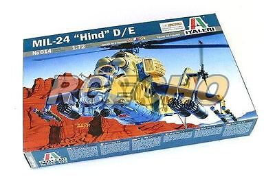 ITALERI Helicopter Model 1/72 MIL-24 Hind D/E Scale Hobby 014 T0014