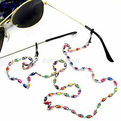 Glasses Spectacles Cords Stainless Steel String with Beads Strap Chain