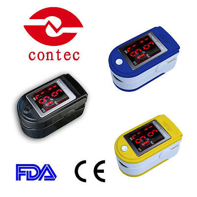 FINGER PULSE OXIMETER BLOOD OXYGEN SpO2 HEART RATE MONITOR CE ** FAST UK POST **