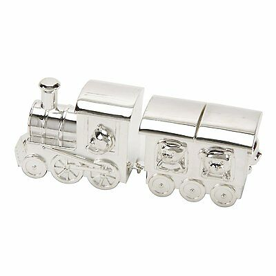 Silver Plated TRAIN Tooth & Curl Box New Baby Christening Gift