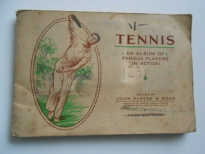 Tennis rare vintage complete tobacco card set in album 1930s