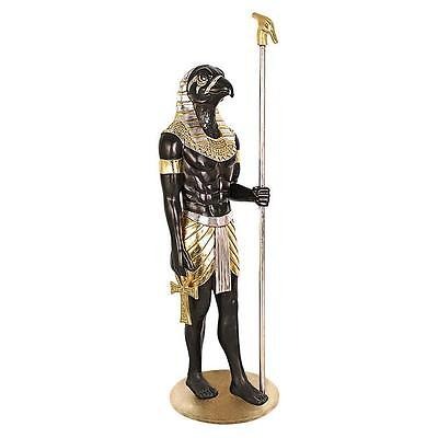 Egyptian Horus Falcon God of Divine Order Falcon Life Size Statue Over 6 Ft Tall