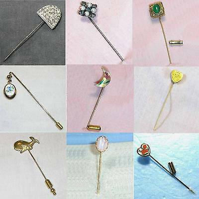 LOT 9 antique/vintage scarf pins rkd