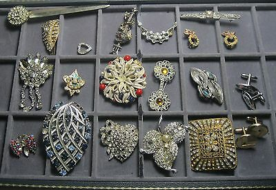 Lot Rhinestone Jewelry 20 Easy Repair a few stones All pictured #6r13