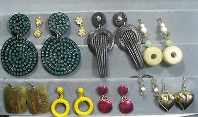 Lot Vintage Earrings 9  Pierced Dangles all in PHOTOS Good usable condition #19