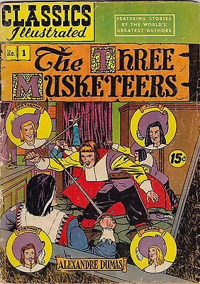 Classics Illustrated The Three Musketeers Comic Book #1 HRN 114