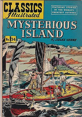 Classics Illustrated Mysterious Island Jules Verne Comic Book #34 HRN 60