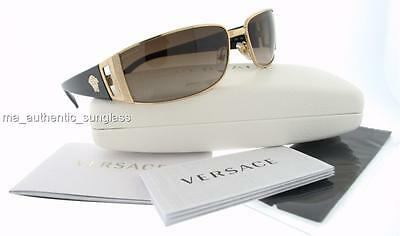 097fa8323b28 Versace Ve 2021 100213 1002 13 Gold Brown Gradient New Authentic Sunglasses