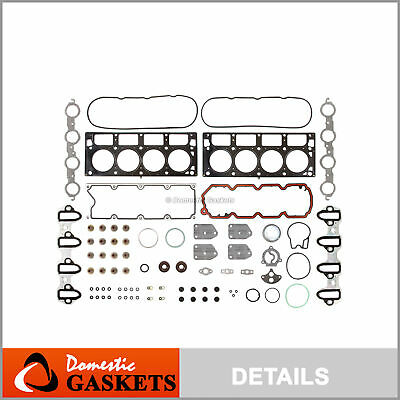 Fits 02-11 Chevrolet GMC Buick Cadillac 5.3 4.8 OHV Head Gasket Set Metal Intake