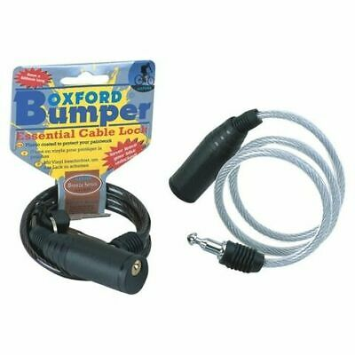 Oxford Bicycle Cycle Bike Helmet Bumper Security Cable Lock Coil 600mmx6mm