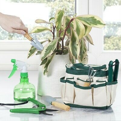 7 Pc Plant Care Garden Tool Set - Indoors Small Spray Bottle Spade Mini Set