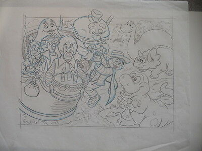 McDonalds very rare original sketch art 17x14 from 1980s