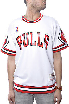 Size 40/Medium Mitchell & Ness Authentic Bulls Jersey 7338a White/Red/Black