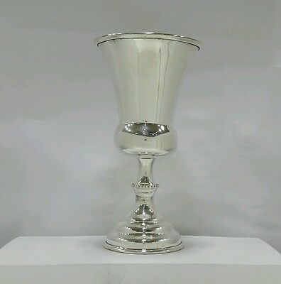 Solid Silver Sterling 925 Kiddush Cup Wine Goblet Becher Judaica Shabbat Shabbos