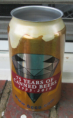 75 Years of Canned Beer: BCCA Blue-Gray souvenir can. 2010