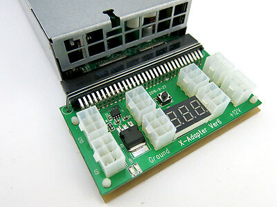 Breakout Board Adapter for HP 1200w DPS-1200FB Power Supply GPU Ethereum Miner