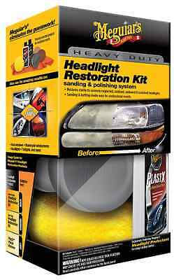 Meguiar's Heavy Duty Headlight Cleaning Restoration & Protectant Kit with PlastX