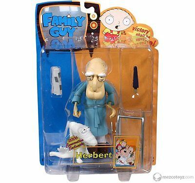 Family Guy Old Man Herbert Action Figure Toy 2006 Comic Con Rare Collectible