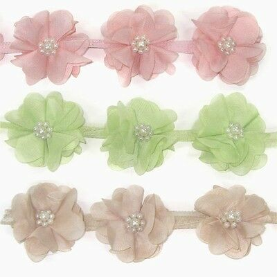 Flower Chiffon Trim Lace 16 - Women Girls Baby Hair Accessories Clips Headbands