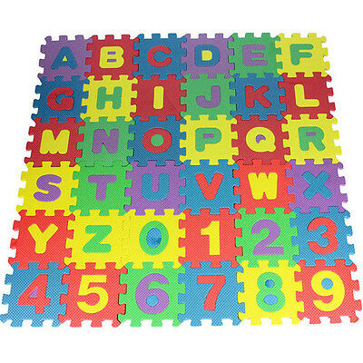 36X Educational Toy Soft Bubble Baby Kids Boy Girl Alphanumeric Puzzle Blocks GB