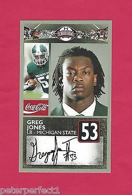 Greg Jones 2011 Senior Bowl Michigan State Spartans Msu Rookie New York Giants