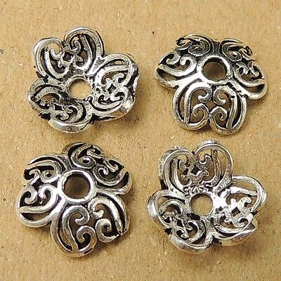 8 Pcs 925 Sterling Silver Bead Caps Vintage Protection Sign 9mm WSP037X8