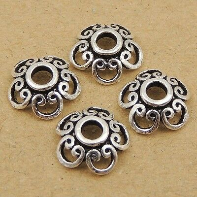 8 Pcs 925 Sterling Silver Bead Caps Vintage Celtic DIY Jewelry Making WSP053X8