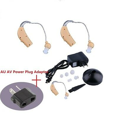 New Rechargeable Hearing Aids Personal Sound Voice Amplifier Behind The Ear XH