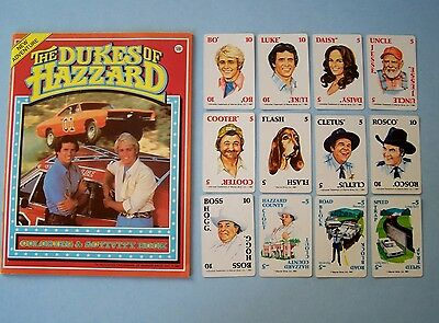 1981 Dukes Of Hazzard New Coloring Book = Bo & Luke + Collector Cards
