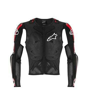 Alpinestars Bionic Tech Pro CE Certified Jacket Black/White/Red - Motocross/MX