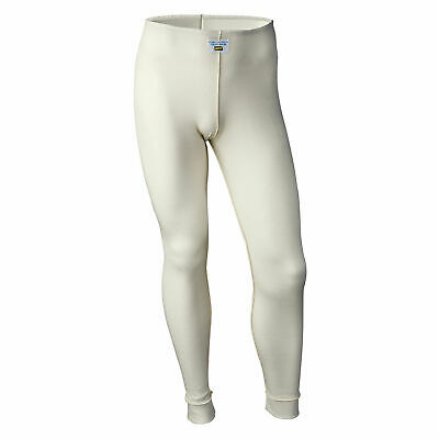 OMP Clubman Range FIA Approved Nomex Long Johns/Bottoms - Race/Rally - White