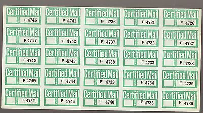 Mint Australia Sheetlet Sheet of 25 CERTIFIED Mail