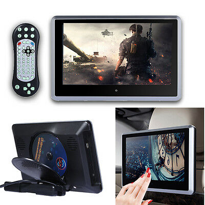 "HD 10.1"" Touch Car Digital LCD Headrest Monitor MP5 DVD/USB Player IR/FM Game TV"