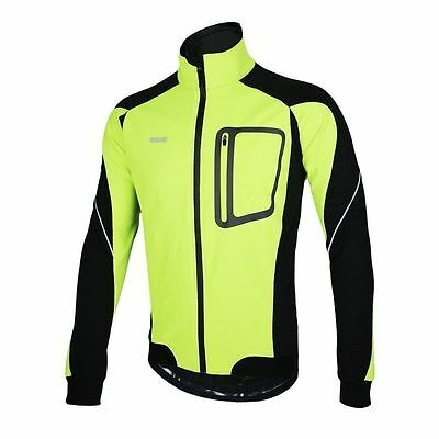 Jacket Mens Wind/Water Proof Yellow/Black Arsuxeo