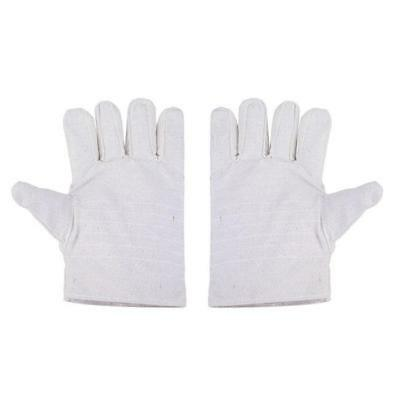 1Pair Heavy Duty Working Welding Thicken Canvas Gloves Safety Oven Fire Gloves B
