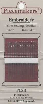 Piecemakers Hand Embroidery Sewing Needles Pkg of 16