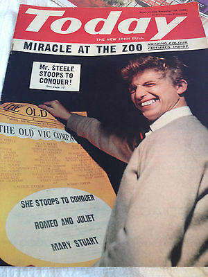 Today Magazine November 1960 Tommy Steele Photo Cover