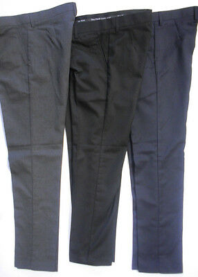 "Mens Boys Black Grey Navy Skinny Leg Slim Fit School Trousers Pants 25"" - 38"""