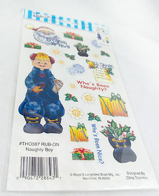 Rub-on Transfer Stickers - 387 Naughty Boy