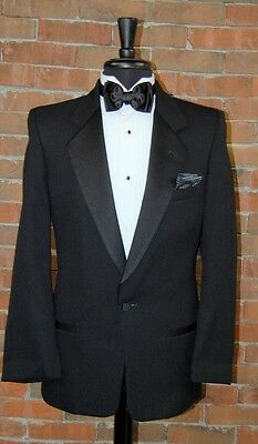 MENS 40 R CLASSIC 1 BUTTON BLACK NOTCH COMPLETE TUXEDO PACKAGE by PIERRE CARDIN