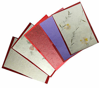 Sheets of A4 Floral Mulberry Paper craft