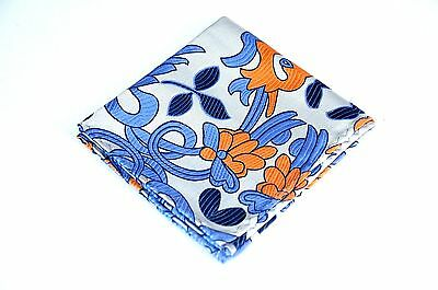 Lord R Colton Masterworks Pocket Square Lake Toya Copper Silk $75 New