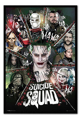 Framed Suicide Squad Circle Film Movie Poster New