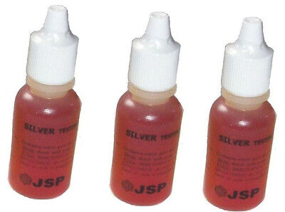 3 Bottles Silver Test Acid Testing Sterling Jewelry Solution Metal Testing Kit