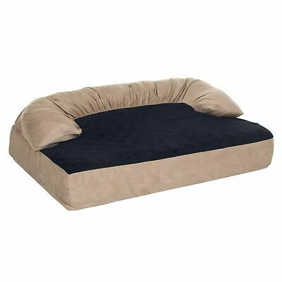 PAW Orthopedic Memory Foam Joint Relief Bolster Dog Bed 45 x 31 Inches Large