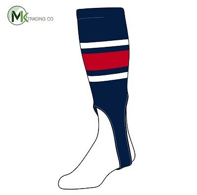 "~TCK® Large, 300E, 7"" - Navy Blue–White–Scarlet Red - MLB® Baseball Stirrups"