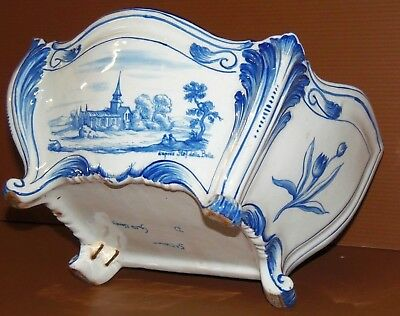 POT JARDINIERE CERAMIQUE XIXe 1880 ST CLEMENT  DECOR GALLE  Dap STEF DELLA BELLA