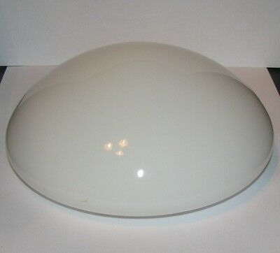 Button Mushroom White Milk Glass Light Round Shade VTG MCM Cloud Lamp 6.75 inch